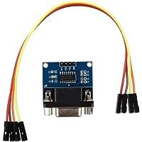Quata MAX3232 RS232 interface naar TTL-convertermodule DB9-aansluiting W / 4 springkabel