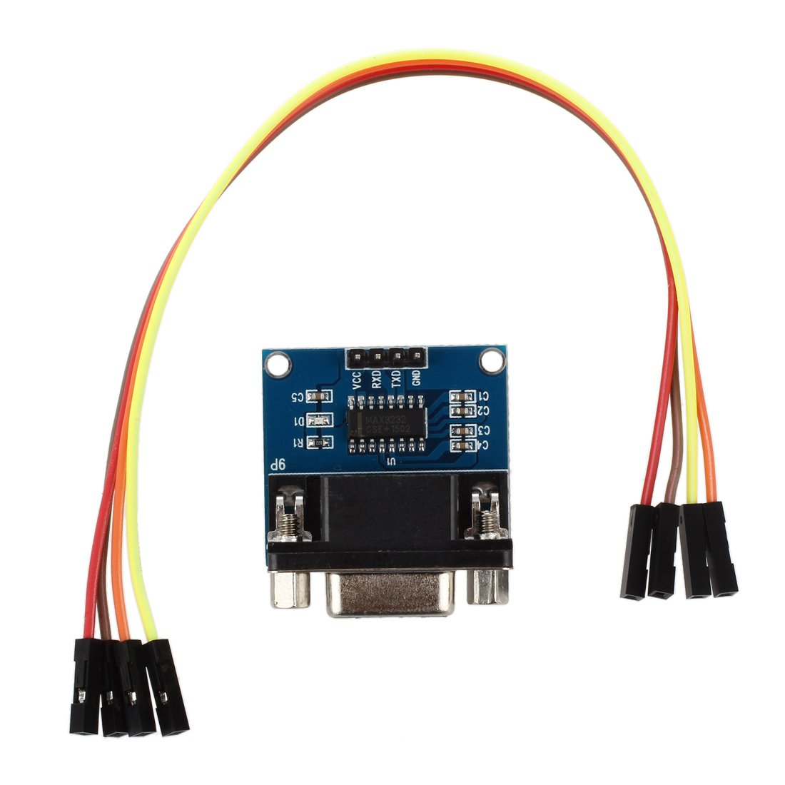 Sodialr Max3232 Rs232 Serial Port To Ttl Converter Level Using Max232 Ic Module Db9 Connector W 4 Jump Cables Electronics