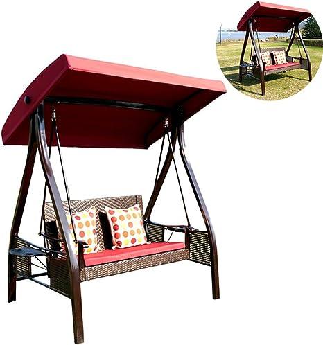 ZDYLM-Y Columpio Balancín Jardín 3 plazas con Dosel Desmontable de Metal jardín Hamaca Columpio w/Tapa de la azotea, para el balcón al Aire Libre: Amazon.es: Deportes y aire libre