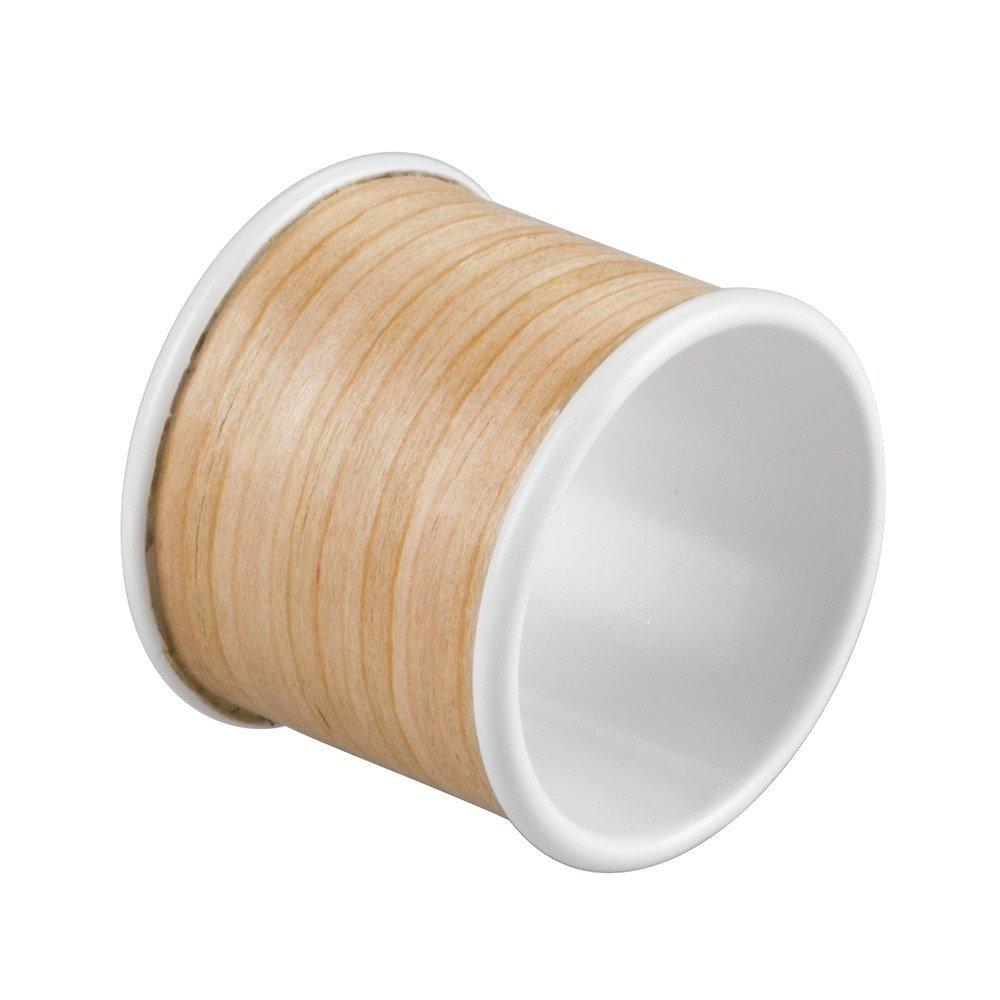 InterDesign RealWood Napkin Rings for Home, Kitchen, Dining Room - Set of 4, White/Light Wood Finish by InterDesign (Image #3)