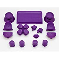 Purple Full Button +2 Springs Replacement Mod Kit for Playstation 4 PS4 Controller