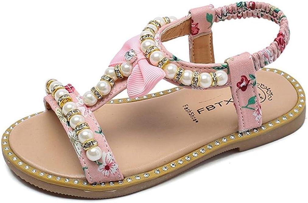 Sandalias para bebés Xinantime Sandalias Romanas de Cristal Bowknot con Perlas Zapatos de Princesa para 0-6 años