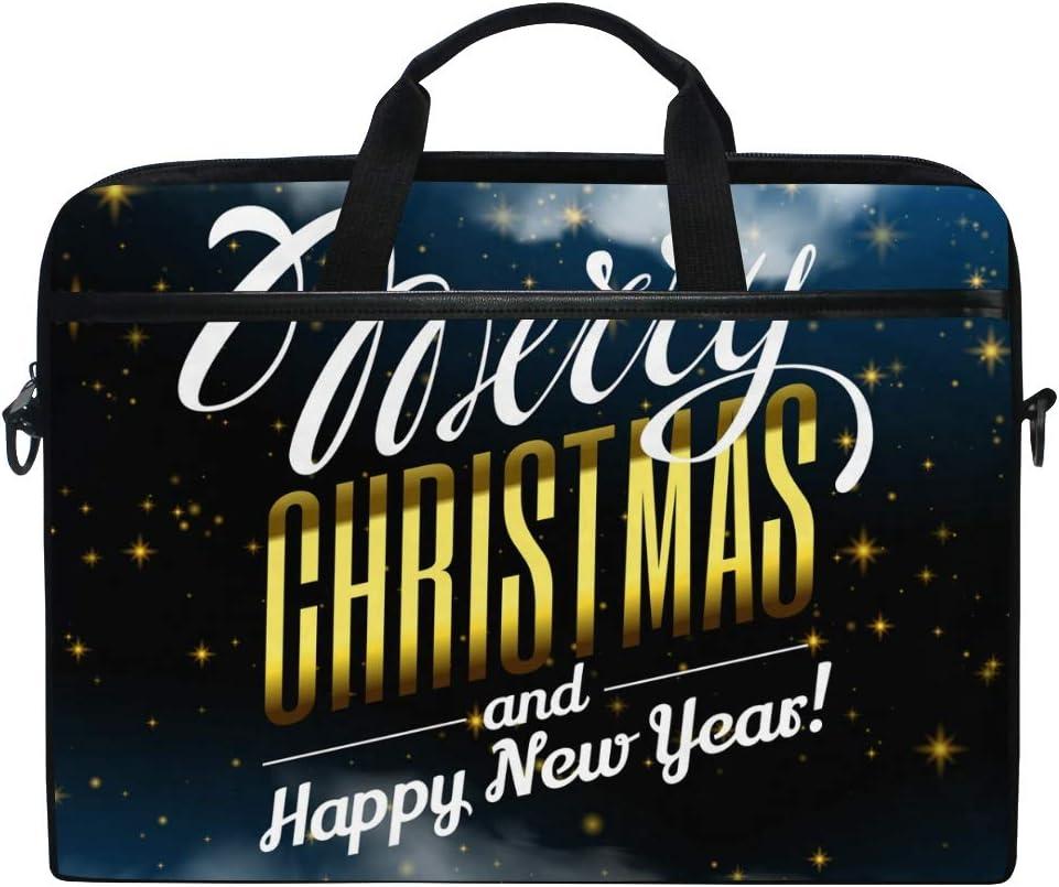 FANTAZIO Night Sky New Year Pattern Laptop Shoulder Messenger Bag Case for 14 Inch 15 Inch Laptop Case Laptop Briefcase