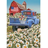 """"""" Old Blue """" – Patriotic – Double Sided, Standard Size, 28 Inch X 40 Inch Decorative Flag"""