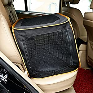 A4Pet 27″ Pet Car Travel Crates Carrier for Medium Dog, Puppy and Cats