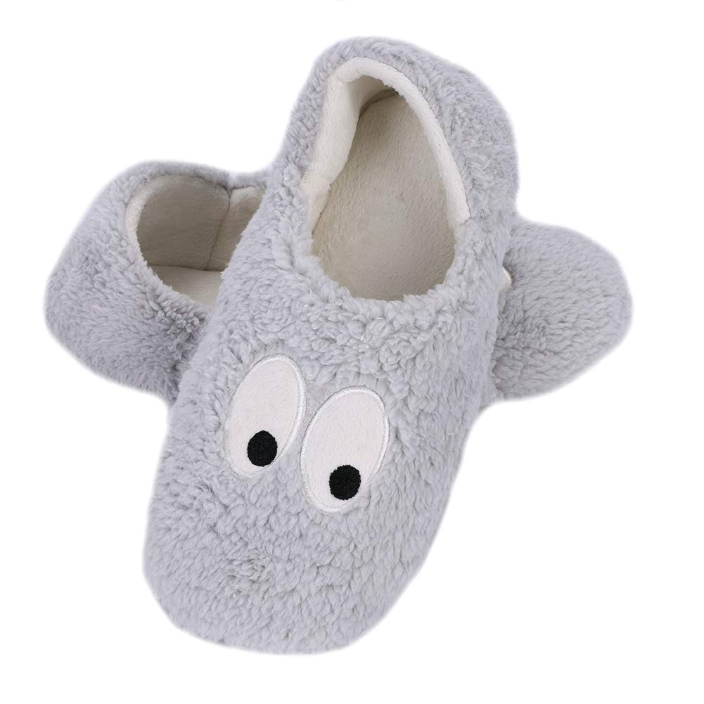 Womens Ladies Teddy Bear Warm Winter Soft Slip On Fleece Lining Moccasin Slipper