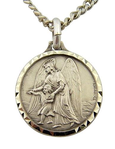186e57d5cf6 DTC French Nickel Silver Catholic Patron Saint Medal, 1 Inch (Guardian  Angel)