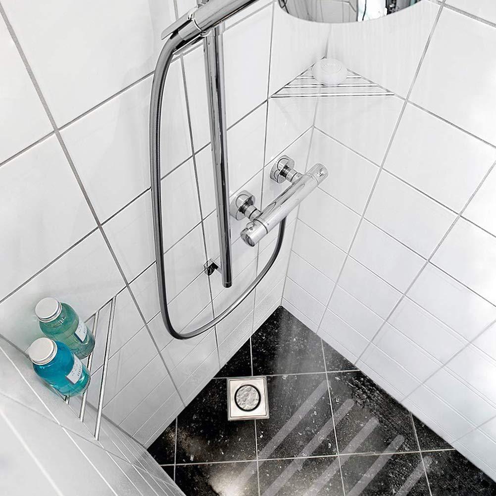 Neborn Lot de 18 Bandes antid/érapantes pour escaliers avec gabarit de positionnement douches et baignoires Autocollantes et Transparentes 38 cm de Long et 2 cm de Large