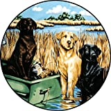 Labrador Dog Spare Tire Cover for 225/75R15 Jeep RV Camper VW Trailer etc(Select popular sizes from drop down menu or contact us-ALL SIZES AVAILABLE)