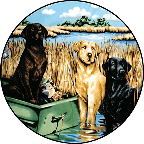 Labrador Dog Spare Tire Cover for 225/75R15 Jeep RV Camper VW Trailer etc(Select popular sizes from drop down menu or contact us-ALL SIZES AVAILABLE) by Tire Cover Central