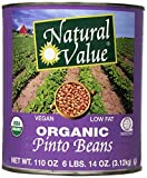 Natural Value Organic Pinto Beans, 110 Ounce