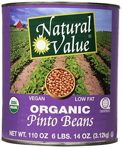 Natural Value Organic Pinto Beans, 110 Ounce by Natural Value