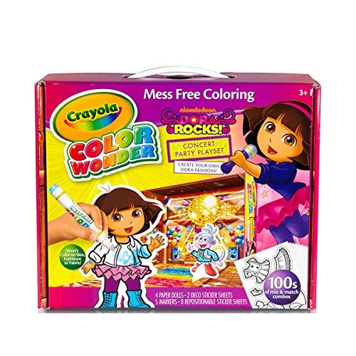 Dora The Explorer Crafts - Crayola 75-0222 Dora the Explorer Color Wonder Paper Dolls Craft Kit