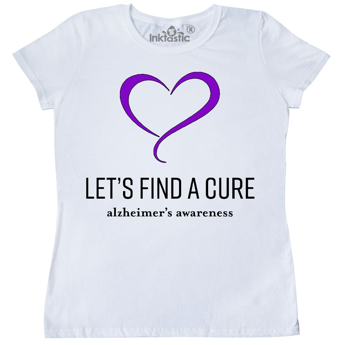 6fc5802e Amazon.com: inktastic - Let's Find a Cure- Alzheimer's Awareness Women's T- Shirt: Clothing