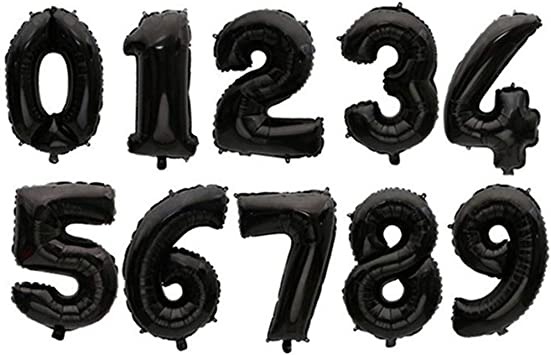 Amazon.com: Globos de helio de 32 pulgadas con números ...