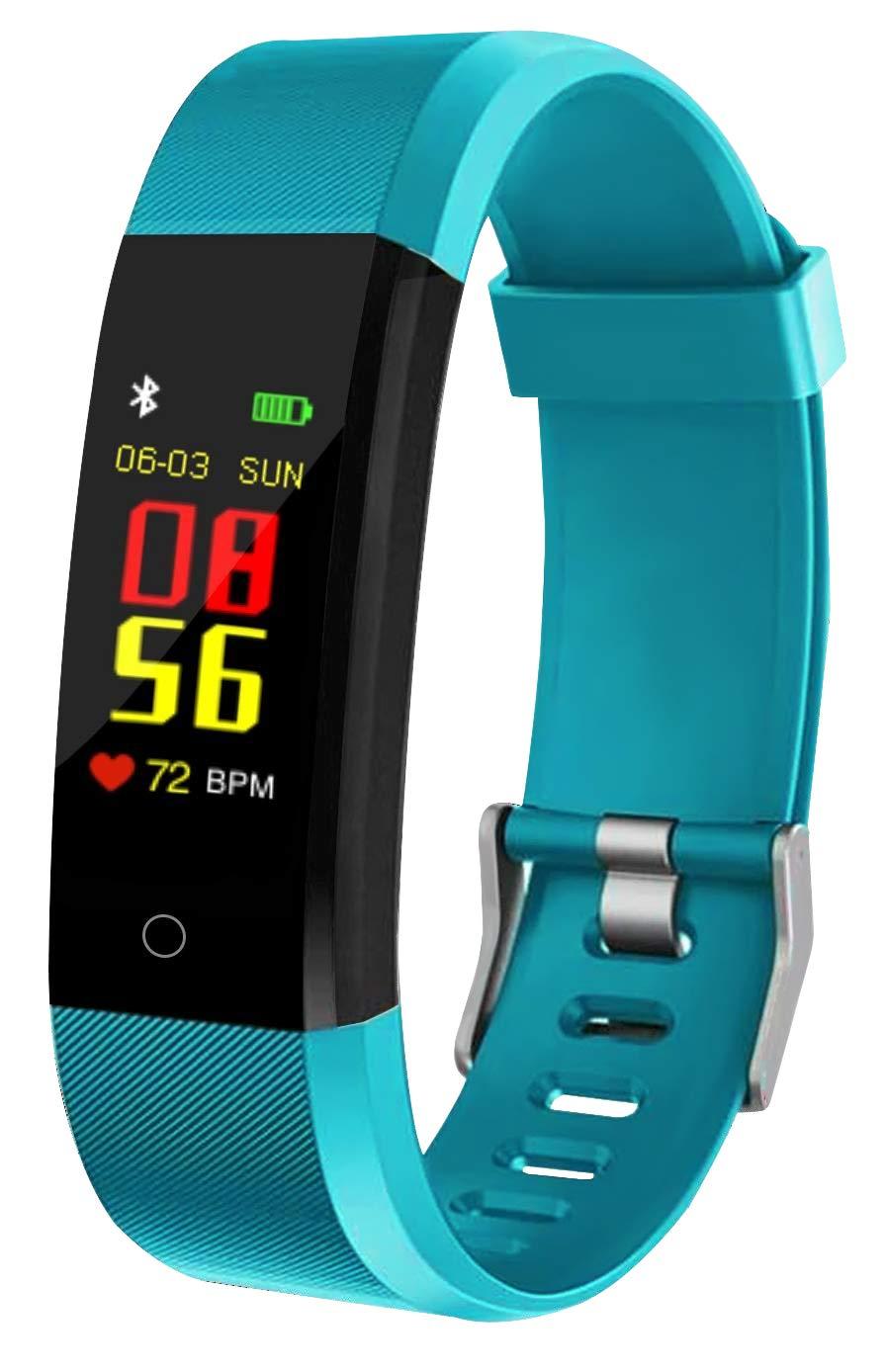 Pulsera inteligente Bluetooth fitness Tracker pantalla de color IP67 impermeable con frecuencia cardíaca, presión arterial, medición de oxígeno en la sangre, registro de deportes, Foto remota,A