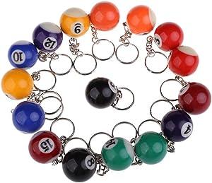 Foxnovo Billiard Ball Keychain 32mm 16pcs