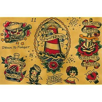 Amazon.com: Black Market Art Flash by Johnny 2 Thirds Rockabilly Old ...