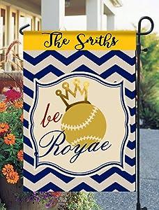 Tow Yus Dala Polyester Garden Flag for House Decor-Royals Garden Flag Be Royal Garden Flag Kansas City Royals Garden Flag