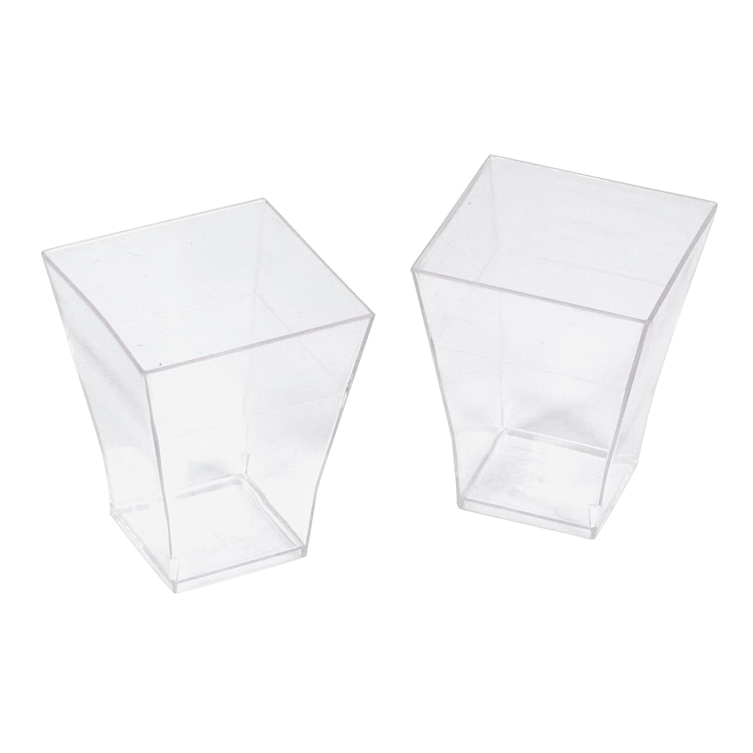 Delys-By-Vercal 507679 Set of 12 Plastic Verrines, 5 x 5 x 4.5 cm