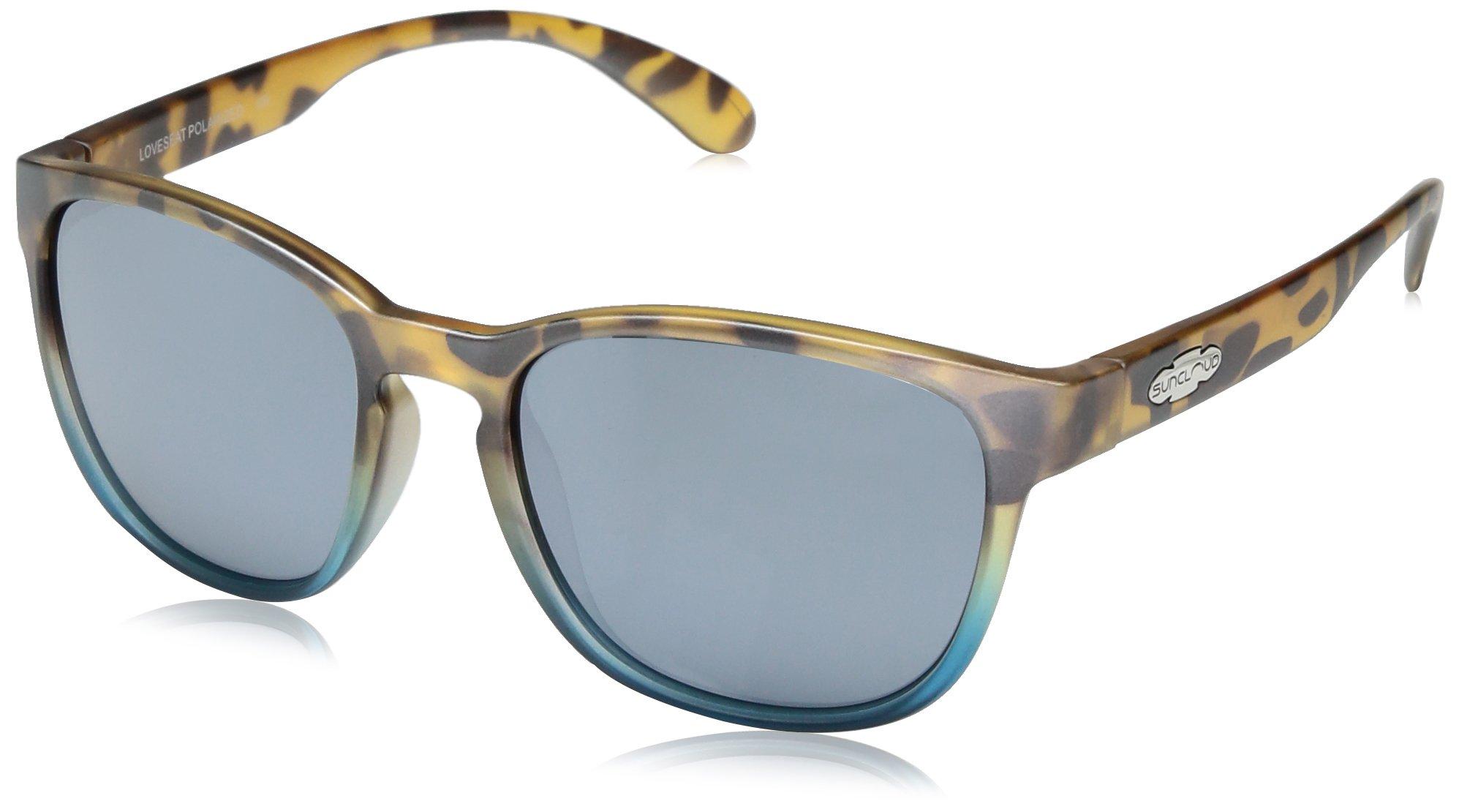 Suncloud Loveseat Sunglasses, Mt Tortoise Blue Fade Frame/Silver Mirror Polycarbonate Lens, One Size