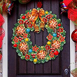 G.DeBrekht Christmas Wreath Wooden Decorative Holiday Door Hanger/Wall Hanger #8185307H 54