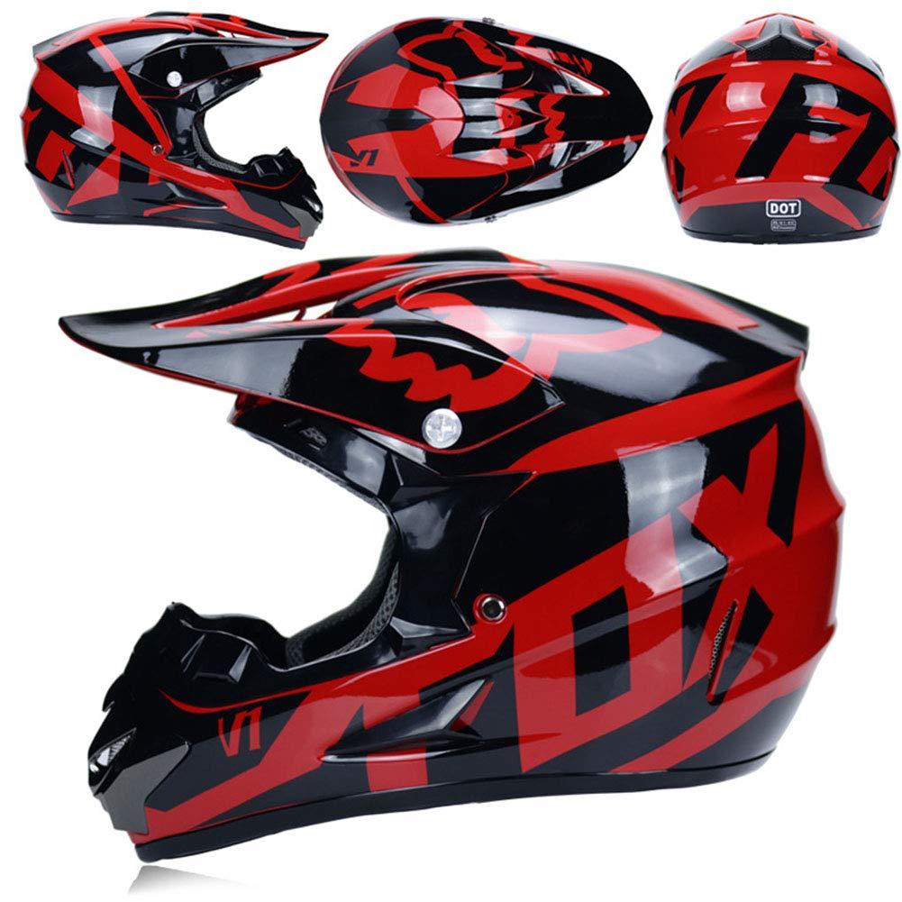 WZFC Casco Motocross Eduro Homologado Casco De Moto Cross Integral para Mujer Hombre Adultos (Modelo-Fox-3): Amazon.es: Deportes y aire libre