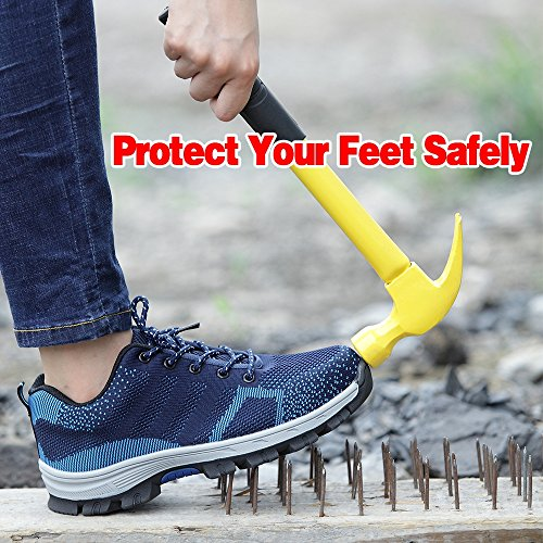 LAN YING Protective Sport Blue Toe Work and Shoes Construction Industrial Mens Safety Steel HCCdxAUwq