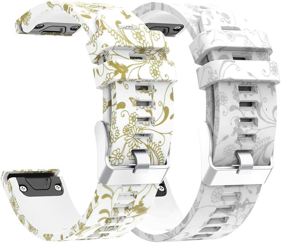 CharmingElf Compatible with Garmin Fenix 5 Band 22mm Wacth Band for Fenix 5//Fenix 5 Plus//Fenix 6//Fenix 6 Pro//Forerunner 935//Forerunner 945//Quatix 5//Approach S60