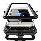 iPhone7 4.7インチ用ケース 2win2buy 液晶保護強化ガラスフィルム付き 生活防水/防塵/耐衝撃 アウトドア スポーツ ケース アイフォン7 対応耐衝撃カバー, ブラック