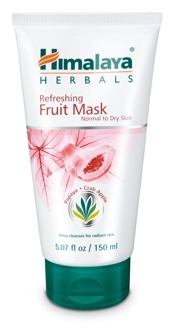 Himalaya Refreshing Fruit Mask with Papaya and Crab Apple for Normal to Dry Skin 5.07 oz (150 ml)