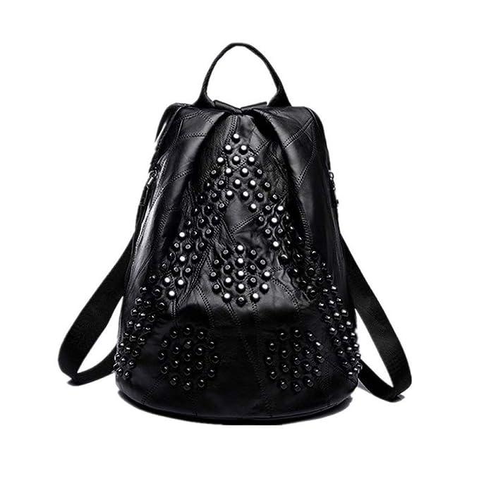 Mochila De Moda Para Mujer Bolso Informal Bolso De Viaje De Gran Capacidad Bolsas De Hombro Minimalistas,Black-29 * 16 * 35cm: Amazon.es: Ropa y accesorios