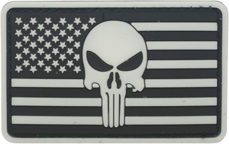 Cobra Tactical Solutions Punisher Bandera US Parche PVC Táctico Moral Militar con Cinta adherente de Airsoft Cosplay para Ropa de Mochila Táctica: Amazon.es: Hogar