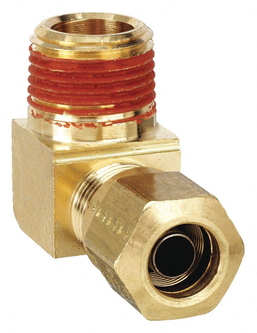 3//4 Compression Tube x 3//4 Male Thread Parker Hannifin VS269NTA-12-12-pk5 Air Brake-NTA Male Elbow Fitting Pack of 5 Brass