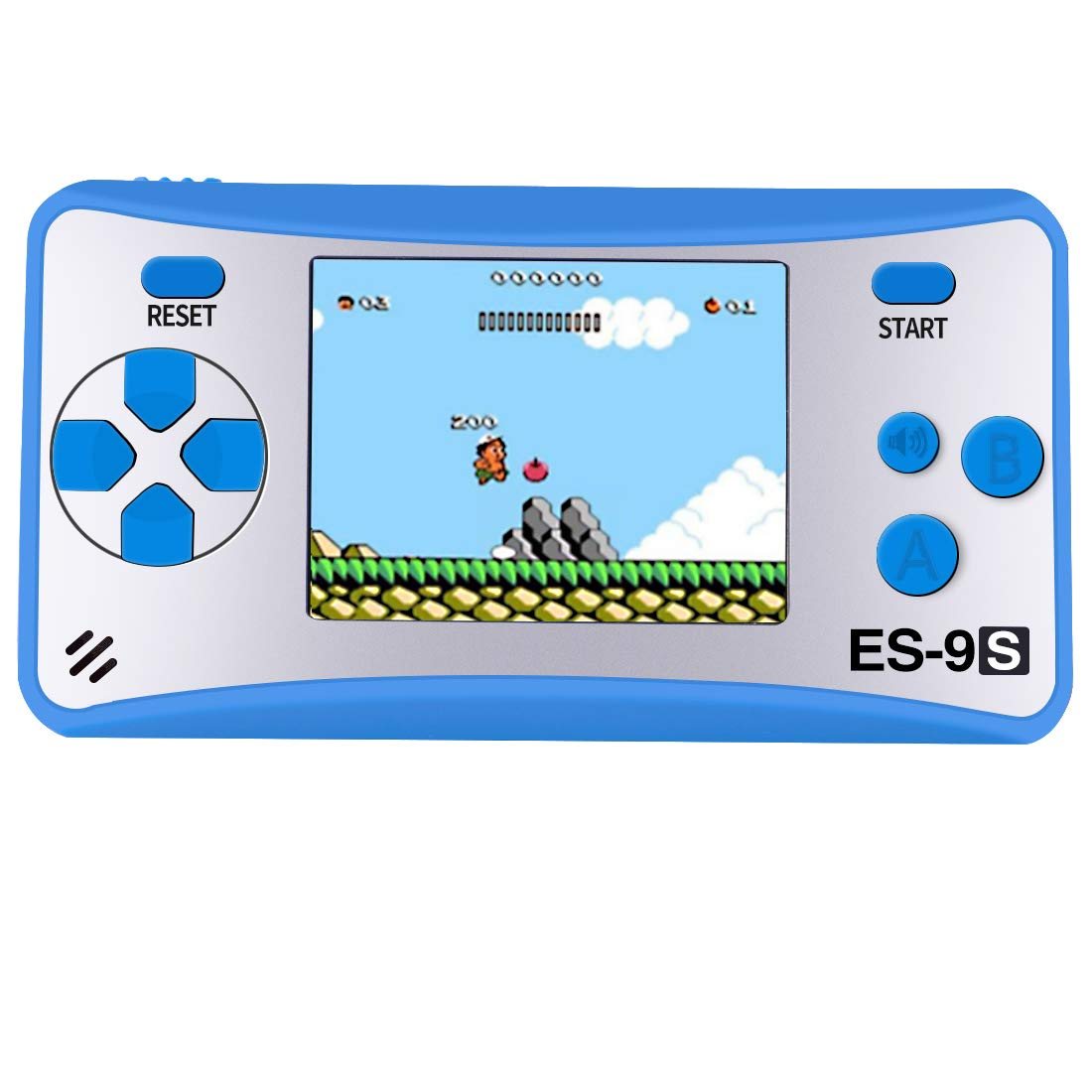 Kids Handheld Game Console Retro Video Game Player Portable Arcade Gaming System Birthday Gift for Children Travel Recreation 2.5'' Color LCD Screen 16 Bit 168 Classic Games(Blue Silver)