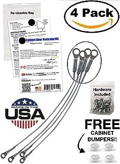 Cabinet Door Restraint Kit 9 Inch (Packs of 4 or 8) Cupboard  sc 1 st  Amazon.com & National Hardware N213-579 337 Wall Door Stops in 2 piece ...