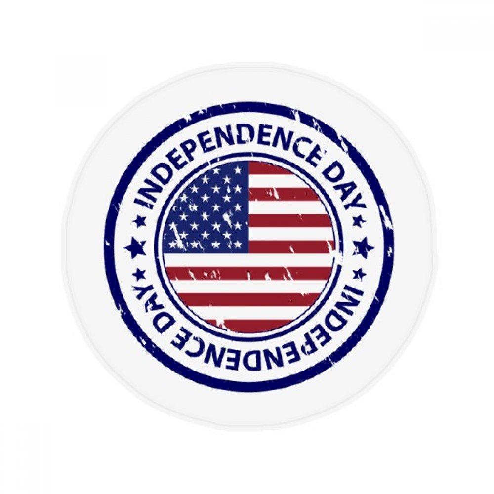 60X60cm DIYthinker USA Independence Day Flag Postmark Pattern Anti-Slip Floor Pet Mat Round Bathroom Living Room Kitchen Door 60 50Cm Gift