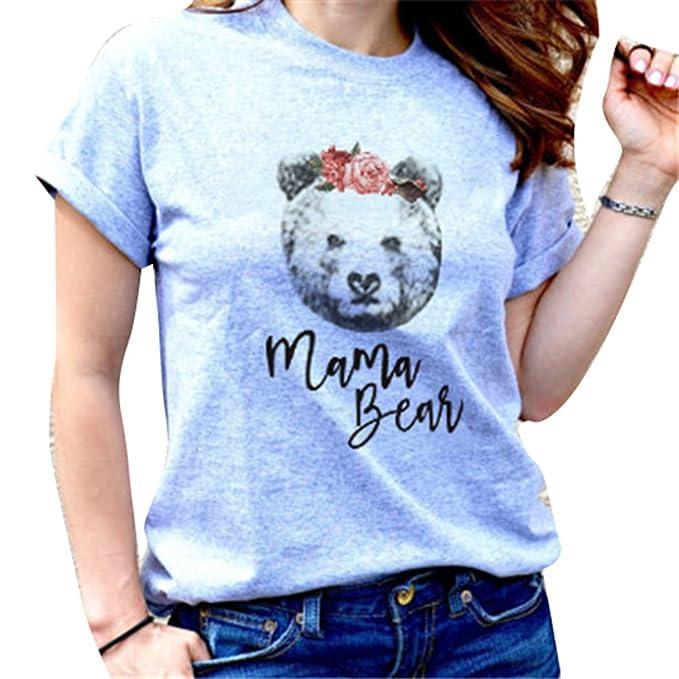 Juleya Camiseta a juego con la familia Lazo de dibujos animados oso mamá papá niños camiseta de bebé Tops PeLfaKa1