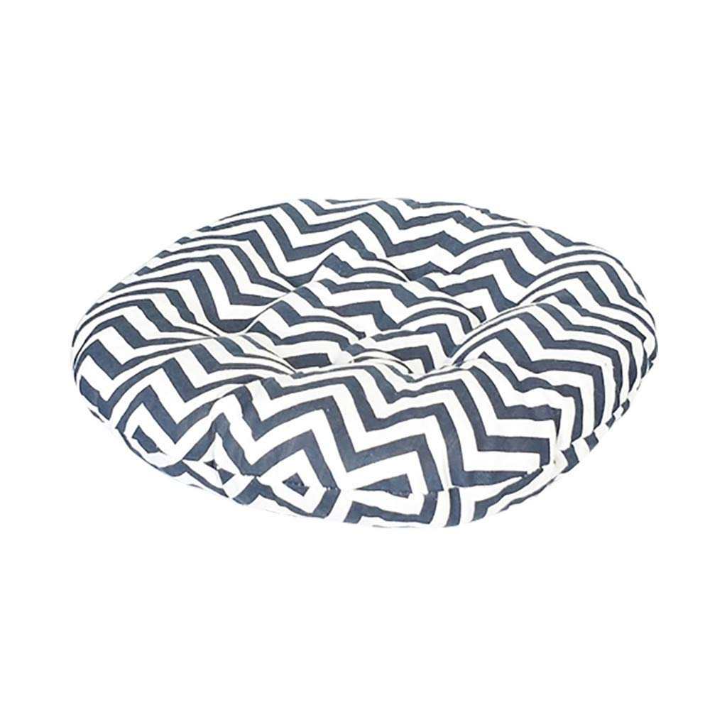 1KTon Chair Pads Round Cotton Chair Cushion Soft Thicken Seat Pads Cushion Pillow for Office,Home or Car Sitting by 1KTon