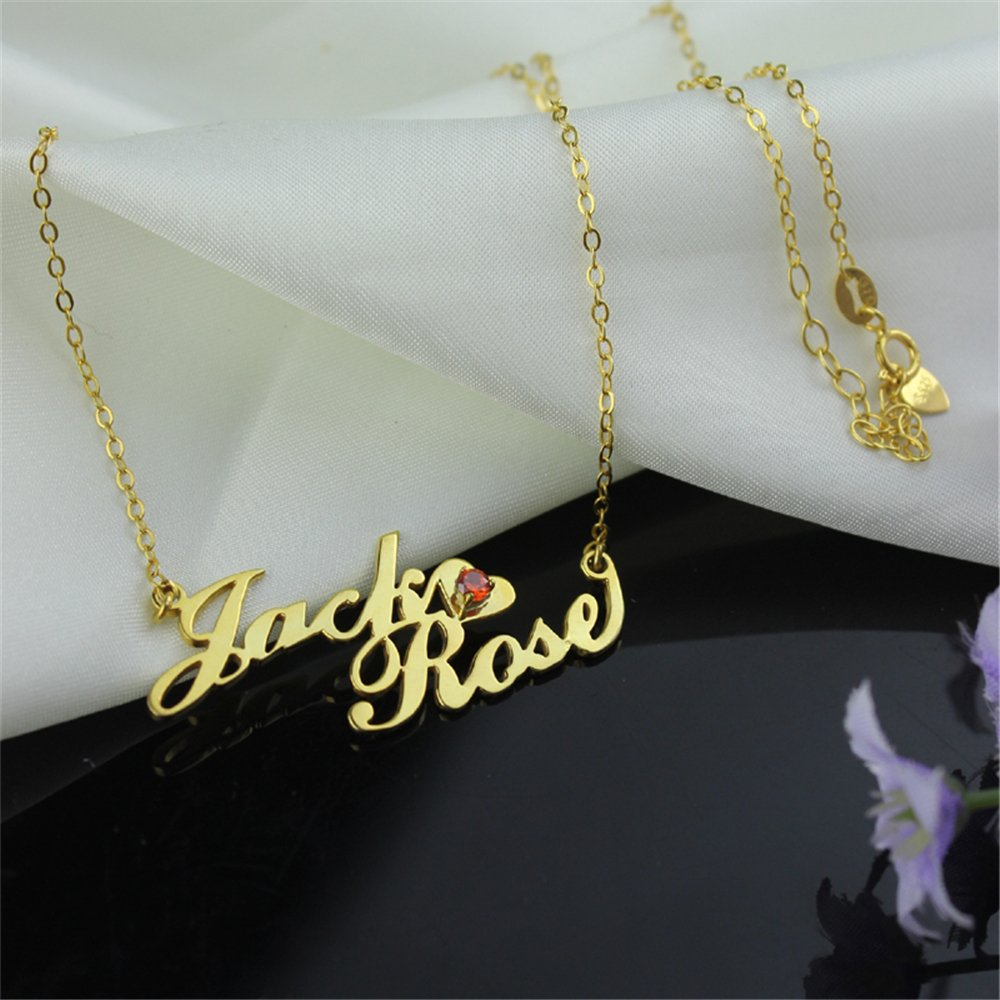 Custom Personalized Necklaces Two-Row Name Necklace Pendant Christmas Gift