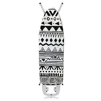 Bügelbrettbezug 120x40 Bügelbrett Bezug Grau Weiß  Motiv 100/% Baumwolle Neu