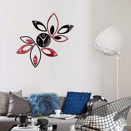 Amazon.com: decorhomium Dropship Quartz Wall Clock Europe Design Reloj De Pared Large Decorative Clocks 3D DIY Acrylic Mirror for Home Living Room: Home & ...