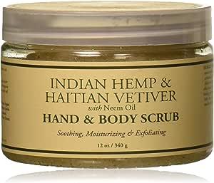 Nubian Heritage Bath & Body Scrub, Indian Hemp & Haitian Vetiver, 340g