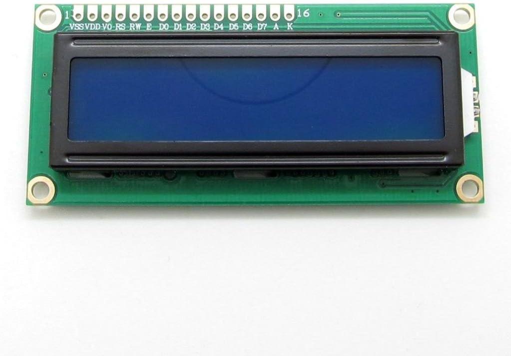 Pantalla LCD genérica 1602,16x2 caracteres, módulo adaptador de pantalla HD44780, retroiluminación azul