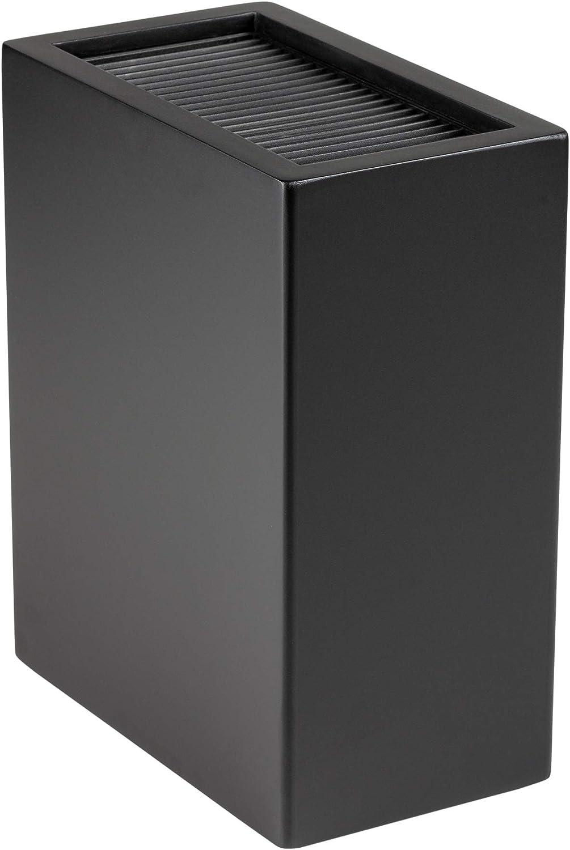 Rockingham Forge Bloque Soporte Vertical para Cuchillos Universal, 20 Hojas de hasta 20cm de Largo, Color Negro Brillante, plástico, Negro Mate, 18.5 x 10.5 x 22.5 cm