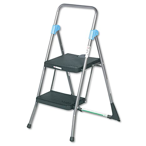 Fantastic Cosco 11829Ggb Commercial Steel Folding Step Stool 2 Step Gray Beatyapartments Chair Design Images Beatyapartmentscom