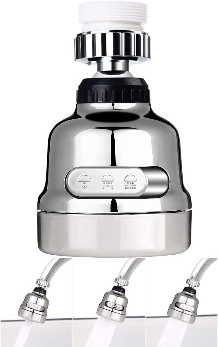 Silver Amener Movable Kitchen Tap Head Moveable 360 degree Rotable Water Saving Faucet Nozzle Filter Sink Areator Flexible Diffusser