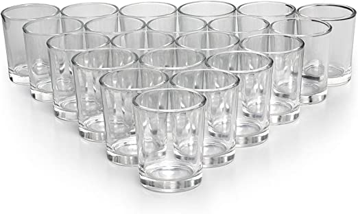 Amazon Com Letine Glass Votive Candle Holders Set Of 72 Clear Tealight Candle Holder Bulk Ideal For Wedding Centerpieces And Home Decor Home Kitchen