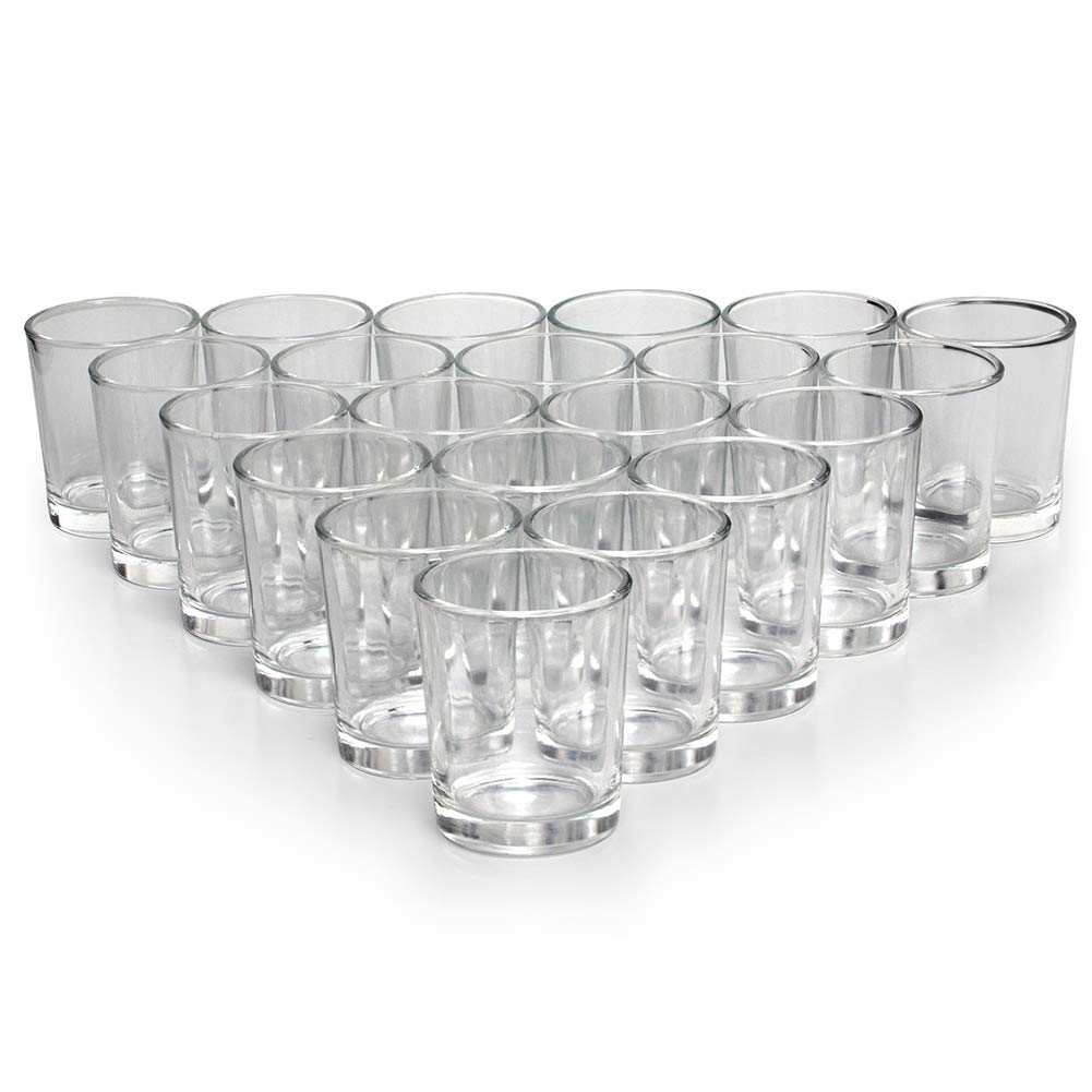 Letine Glass Votive Candle Holders Set of 72 - Clear Tealight Candle Holder Bulk - Ideal for Wedding Centerpieces & Home Decor by Letine