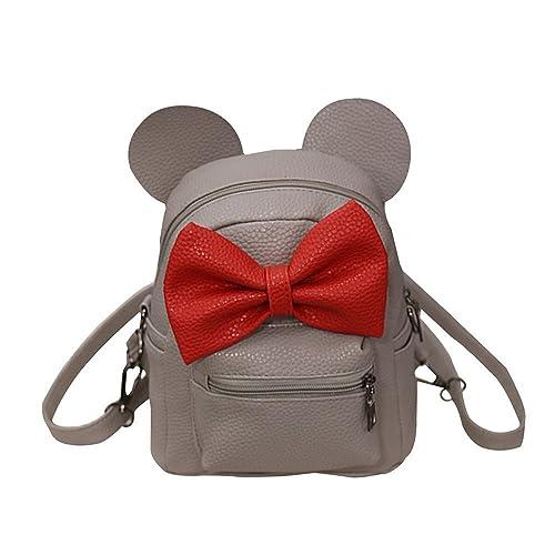 e6358de54c698 DOGZI Handtasche Damen Klein Transparente Tasche Rucksack Damen Ledertasche  Kleine 2017 New Mickey Rucksack Female Mini